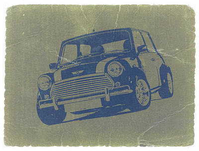 British Digital Art - Mini Cooper by Naxart Studio
