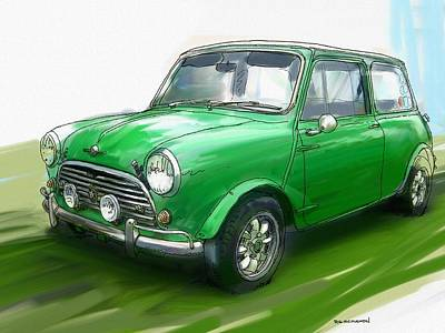 Painting - Mini Cooper by RG McMahon