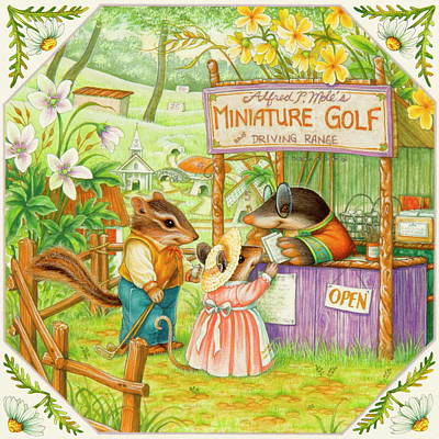 Painting - Mini-golf by Lynn Bywaters