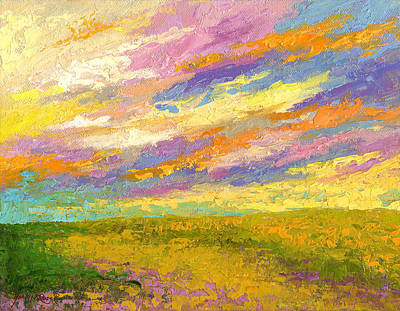 Prairie Sky Art Painting - Mini Landscape V by Marion Rose
