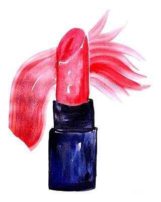 For Salons Painting - Mini Lipstick by Sweeping Girl