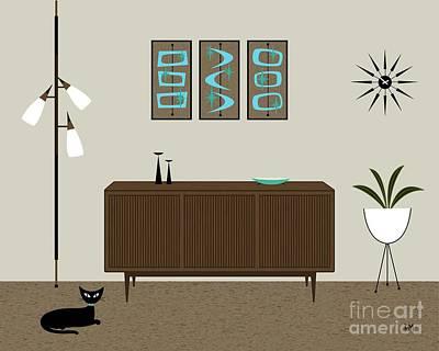 Planters Digital Art - Mini Mod Shapes by Donna Mibus