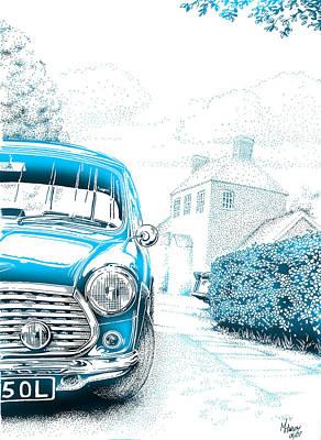 Austin Mixed Media - Mini On Drive by Mark Harvey