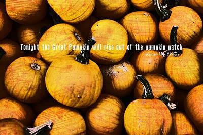 Mini Pumpkin Patch Quote Art Print by JAMART Photography