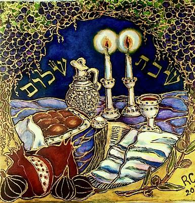 Painting - Mini Shabbat by Rae Chichilnitsky