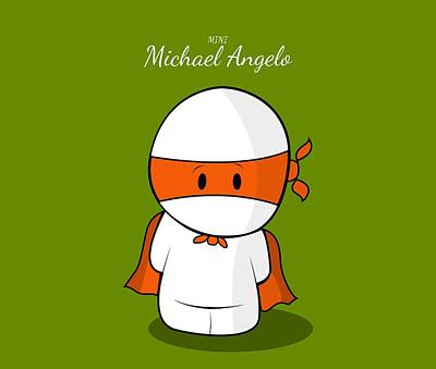 Michelangelo Digital Art - Mini Super Hero by Islam Hassan