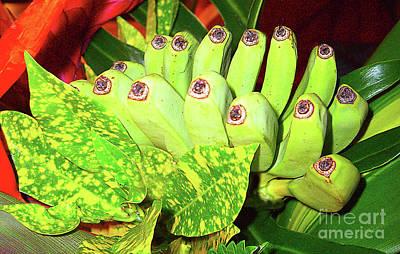 Photograph - Miniature Bananas In A Tropical Floral Arrangement by Merton Allen