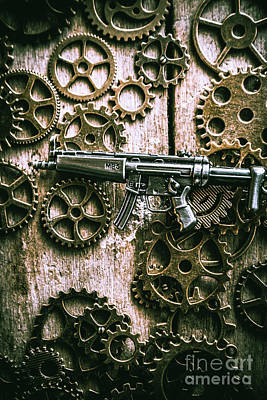 Green Movement Photograph - Miniature Mp5 Submachine Gun by Jorgo Photography - Wall Art Gallery