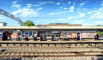 Photograph - Miniature People At The Station by John Williams