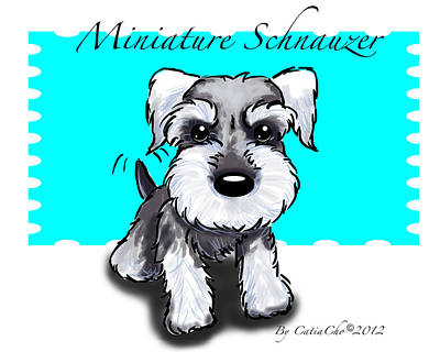 Mixed Media - Miniature Schnauzer by Catia Lee