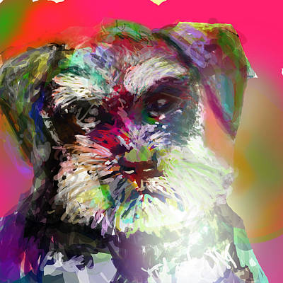 Miniature Schnauzer Digital Art - Miniature Schnauzer by James Thomas