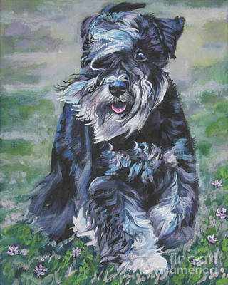 Miniature Schnauzer Painting - Miniature Schnauzer by Lee Ann Shepard