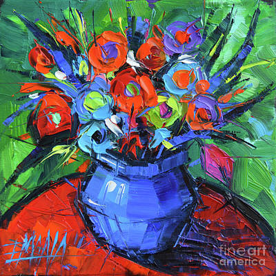 Painting - Minifloral by Mona Edulesco