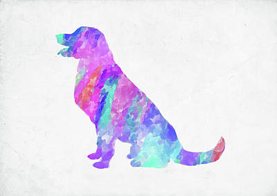 Digital Art - Minimal Abstract Dog Watercolor Iv by Ricky Barnard