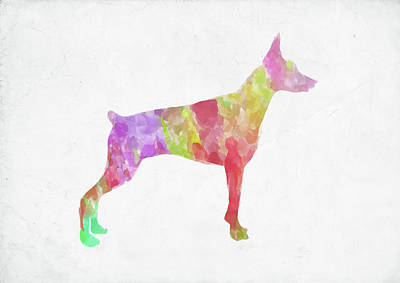 Digital Art - Minimal Abstract Dog Watercolor by Ricky Barnard