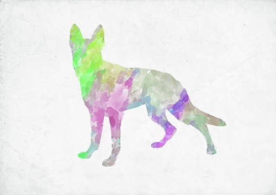 Digital Art - Minimal Abstract Dog Watercolor Vii by Ricky Barnard