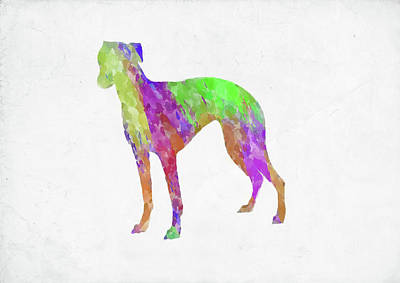 Digital Art - Minimal Abstract Dog Watercolor Viii by Ricky Barnard