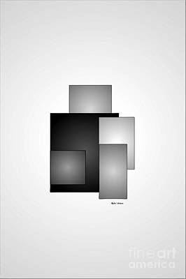 Digital Art - Minimal Black And White by Rafael Salazar