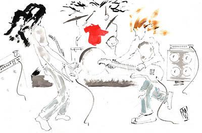 Pearl Jam Drawing - Minimal Grunge Is Grunge Minimal by Michael Wehner