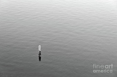 Photograph - Minimal On Waters With Monochrome by Angelo DeVal