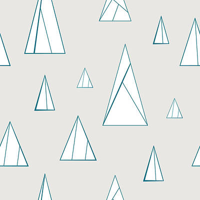 Digital Art - Minimal Triangles by Mike Taylor
