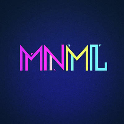 Minimal Type Colorful Edm Typography   Design Art Print by Philipp Rietz