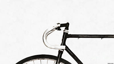 Minimalist Bicycle Painting Art Print by Edward Fielding
