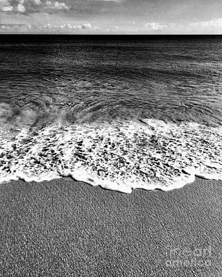 Photograph - Minimalist Black And White Beach by Liesl Marelli
