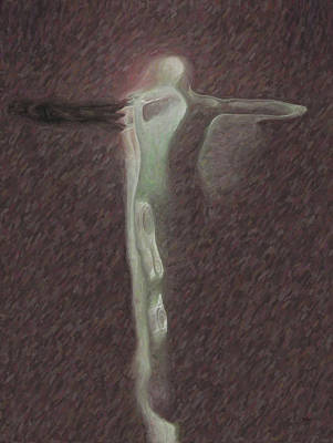 Crucify Digital Art Digital Art - Minimalist Christ by Joaquin Abella
