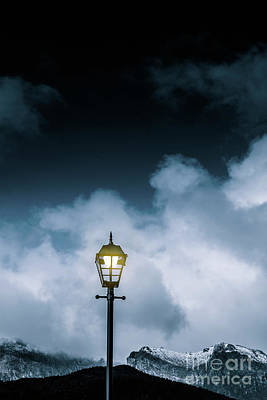 Minimalist Cold Winter Lamppost Art Print