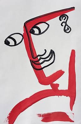 Painting - Minimalist Face by Matthew Brzostoski