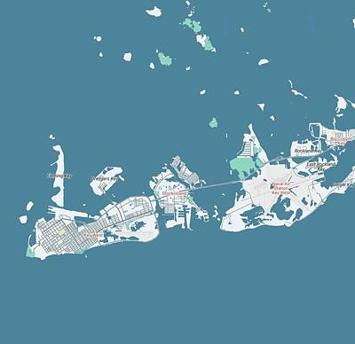 Bath Time Rights Managed Images - Minimalist Modern Map of Key West Florida, USA 1 Royalty-Free Image by Celestial Images