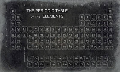 Laboratory Digital Art - Minimalist Periodic Table by Daniel Hagerman