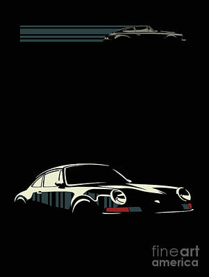 Digital Art - Minimalist Porsche by Sassan Filsoof
