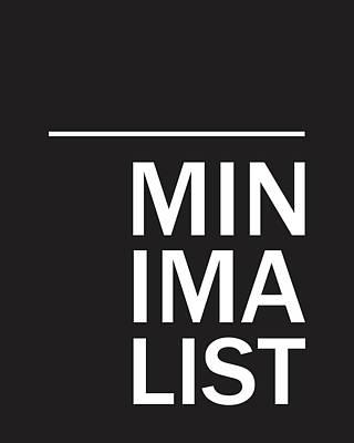 Pop Art Mixed Media - Minimalist Poster by Studio Grafiikka
