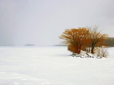 Photograph - Minimalist Winter Landscape by Cristina Stefan