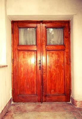 Photograph - Minimalist Wooden Door by Erika H