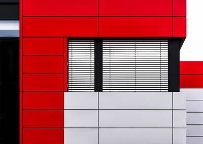 Abstract Architecture Photograph - Minimalistic Facade by Stefan Krebs