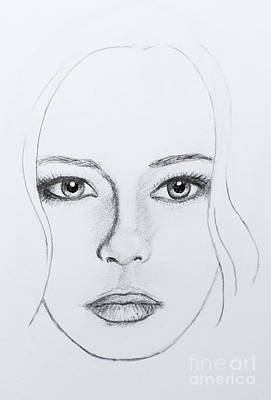 Catwalk Drawing - Minimum Mandy by Stephen Brooks