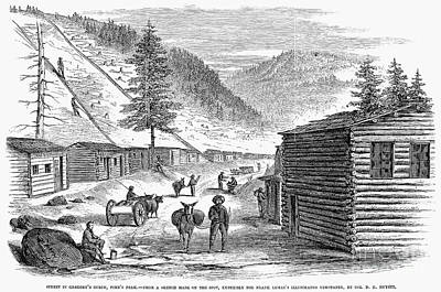 Mining Camp, 1860 Art Print by Granger
