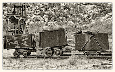 Digital Art - Mining Cars by Sandra Selle Rodriguez