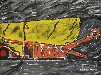 Mine Pit Painting -  Coal Mining  by Jeffrey Koss