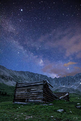 Photograph - Mining Ruins And Milky Way by Aaron Spong