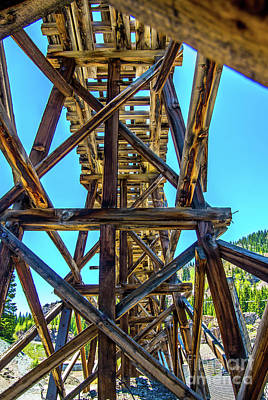 Photograph - Mining Tressle by Stephen Whalen