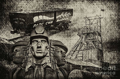 Photograph - Mining Tribute Antique 1 by Steve Purnell