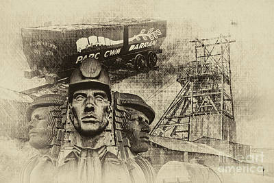 Photograph - Mining Tribute Antique 2 by Steve Purnell