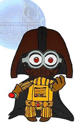 Digital Art - Minion Vader by John Haldane