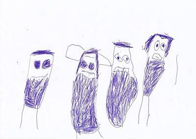 Minions - Drawing Original by Amadeus Kovac