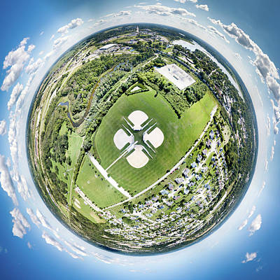 Art Print featuring the photograph Miniwaukan Park Little Planet by Randy Scherkenbach