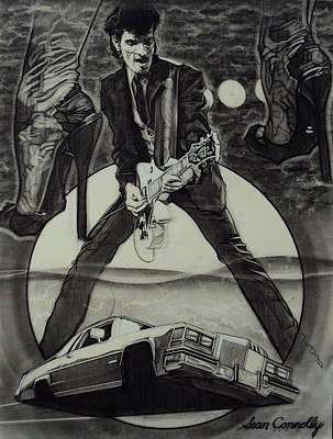 Drawing - Mink Deville by Sean Connolly